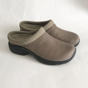 merrell primo breeze II taupe slip on shoes